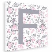 Tableau fille Douceur initiale F (20 x 20 cm) - Home Corner