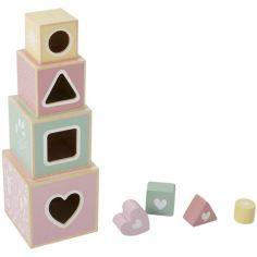 Cubes empilables à encastrement Adventure pink (4 pièces)
