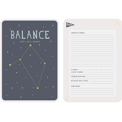 Affiche signe astrologique Balance (21,4 x 32,5 cm)  par Milestone