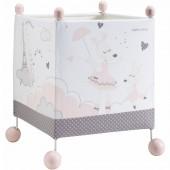 Lampe cube à poser Lilibelle - Sauthon Baby Déco
