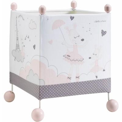 Lampe cube à poser Lilibelle  par Sauthon Baby Déco