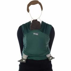 Echarpe de portage Tricot-Slen coton bio vert foncé