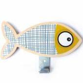 Patère poisson gris - Série-Golo