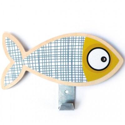 Patère poisson gris  par Série-Golo