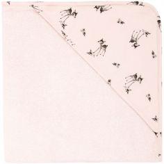 Cape de bain faon Colette rose (80 x 80 cm)