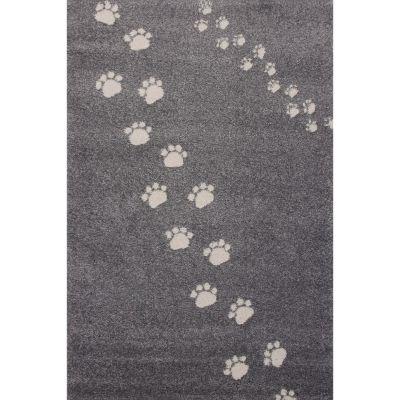 Tapis Empreintes gris foncé (100 x 150 cm) Art for Kids