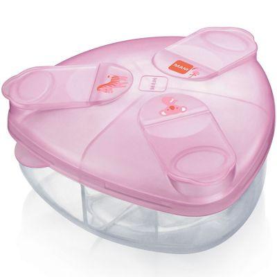 Boîte doseuse de lait rose  par MAM