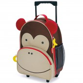 Valise trolley Zoo singe marron - Skip Hop