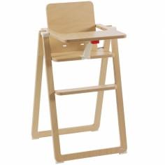 Chaise haute ultra-plate en bois de hêtre