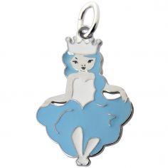Pendentif Princesse Jade bleu clair (argent 925°)