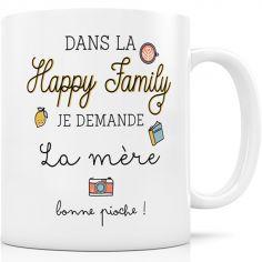 Mug en céramique Dans la Happy Family je demande la mère