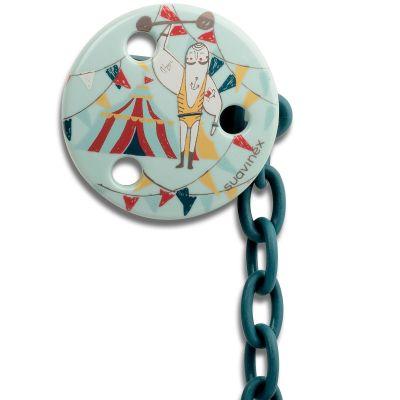 Attache sucette ronde Circus homme fort  par Suavinex