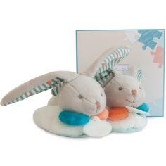 Chaussons lapin Happy avec hochet (6-12 mois)