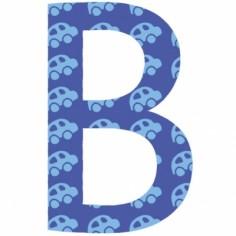 Lettre adhésive B My ABC blue by Anne Cresci