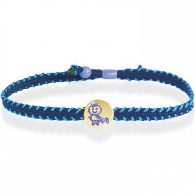 Bracelet cordon Primegioie Zodiaque Verseau (or jaune 375°)  par leBebé