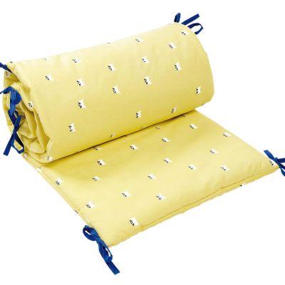 tour de lit chats jaune pour lits 60 x 120 et 70 x 140 cm. Black Bedroom Furniture Sets. Home Design Ideas
