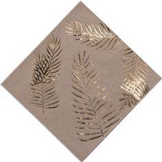 Lot de 16 serviettes en papier kraft Tropi Chic palmier