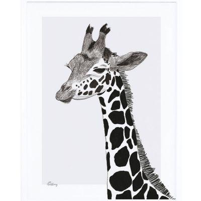 Affiche encadrée la girafe (30 x 40 cm)  par Lilipinso
