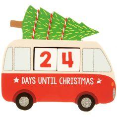 Déco Van avec sapin Compte à rebours avant Noël