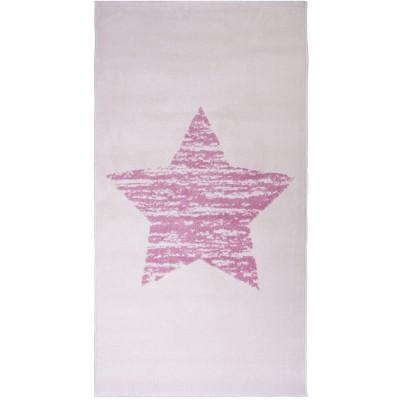Tapis fille Lucero étoile rose (80 x 150 cm) : Nattiot