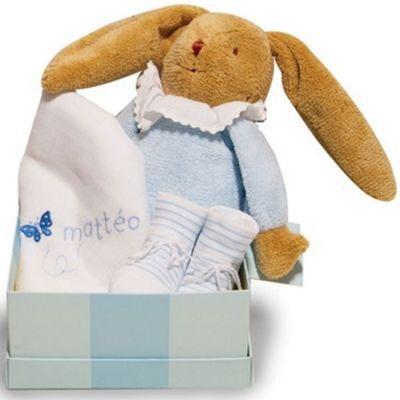 Coffret de naissance bleu (personnalisable)  par ANVIE