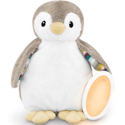 Peluche veilleuse bruit blanc ou musicale Phoebe le pingouin