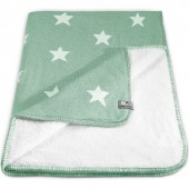 Couverture Star Soft vert menthe et blanc (100 x 130 cm) - Baby's Only