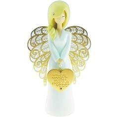 Statuette ange Le bonheur se cultive (15,5 cm)