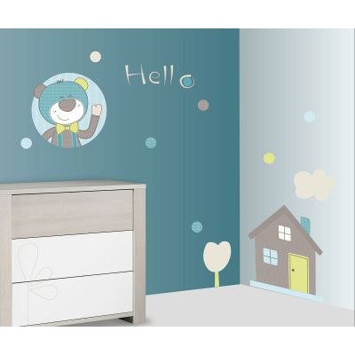 Stickers Hello ours Paddy (60 x 80 cm) Sauthon Baby Déco