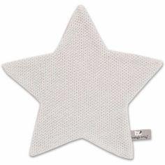 Doudou plat étoile Classic gris argent (30 x 30 cm)