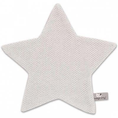 Doudou plat étoile Classic gris argent (30 x 30 cm) Baby's Only
