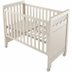 Lit bébé à barreaux Amelia Aran beige (60 x 120 cm)