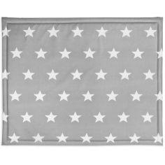 Tapis de parc plastifié Little star étoile gris (75 x 95 cm)