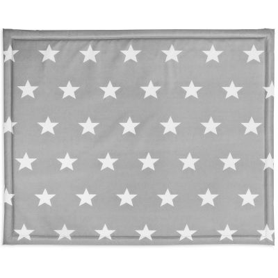 tapis de parc plastifi little star toile gris 75 x 95 cm. Black Bedroom Furniture Sets. Home Design Ideas