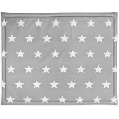 Tapis de parc plastifié Little star étoile gris (75 x 95 cm)  par Jollein