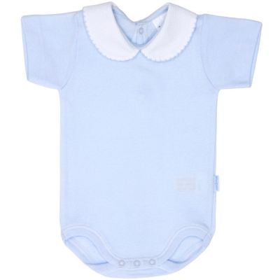 Body col manches courtes bleu (3 mois : 62 cm)  par Cambrass