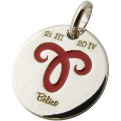 Médaille signe Bélier 14 mm (argent 925°)