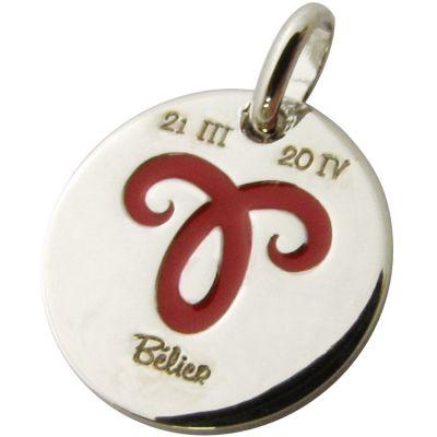 Médaille signe Bélier 14 mm (argent 925°)  par Martineau