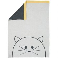 Couverture bébé en coton bio Little Chums chat (75 x 100 cm)  par Lässig
