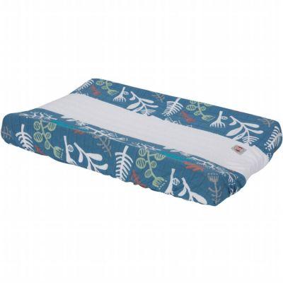 Housse de matelas à langer bleue Ocean Botanimal (70 x 90 cm)  par Lodger