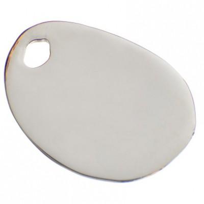 bracelet empreinte gros galet 29 mm trou sur cordon or. Black Bedroom Furniture Sets. Home Design Ideas