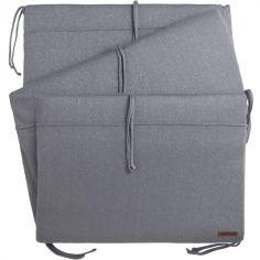 Tour de lit gris Sparkle (pour lits 60 x 120 cm)