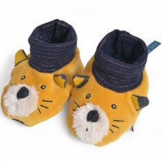 Chaussons chat Lulu Les Moustaches (0-6 mois)