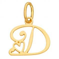 Pendentif initiale D (or jaune 750°)