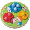 Puzzle à encastrement Coccinelles multicolores (12 pièces) - Haba