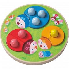 Puzzle à encastrement Coccinelles multicolores (12 pièces)