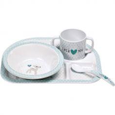 Coffret repas Lela vert d'eau (4 pièces)