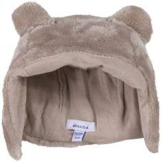 Bonnet fourrure polaire taupe (tour de tête : 44 cm)