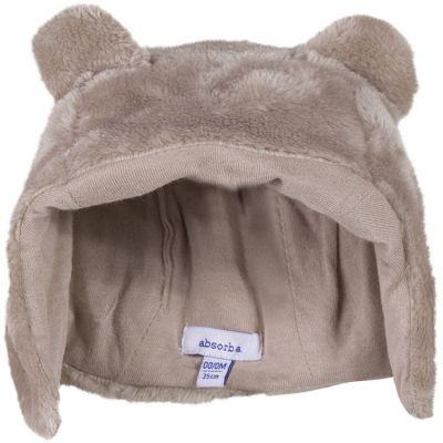 Bonnet fourrure polaire taupe (tour de tête : 44 cm)  par Absorba