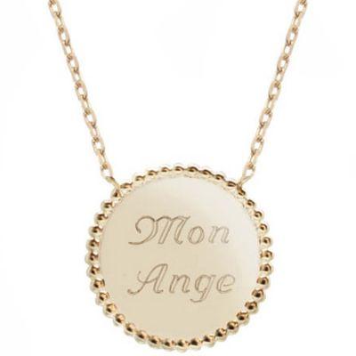 Collier Jeton perlé personnalisable (plaqué or) Petits trésors